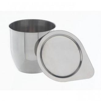 Тигель и крышка, нержавеющая сталь 18/10, H=35 D=35 25 мл. тип 2 (8881)