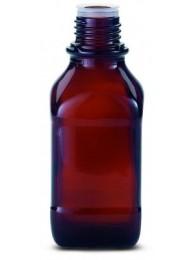 Бутылка квадратная, узкогорлая, с крышкой, темное стекло, 1000 мл. (23 816 545)
