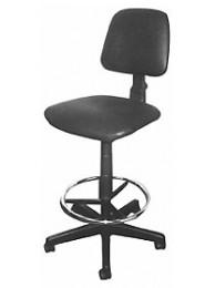 Кресло ЛАБ-СЛ-04 (Астек), обивка - исскуст. кожа (цвет черный), кольцо для ног, без подлокотников