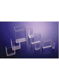 Кювета кварцевая (стекло кварцевое КУ-1) для фотоколориметров, флюориметров и спектрофотометров, L оптич. пути 10 мм, с уменьш. объемом