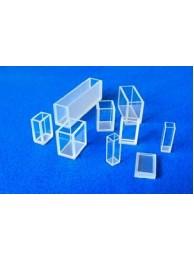 Кювета кварцевая (стекло кварцевое КВ) для фотоколориметров, флюориметров и спектрофотометров, L оптич. пути 10 мм