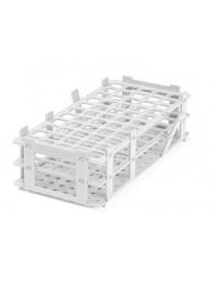 Подставка для 21 пробирки диам. до 30 мм, белая, пластиковая PP (3195940) (Vitlab)