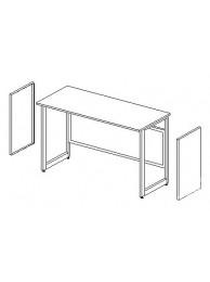 Боковые короба для установки в рамное основание (2шт.) ЛАБ-PRO БККн (к низк. столу)