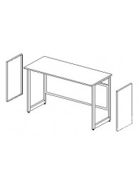 Боковые короба для установки в рамное основание (2шт.) ЛАБ-PRO БККв (к выс. столу)