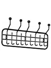 Настенная вешалка в утолщенной овальной раме с 5 рожками с шариками и 9 крючками 980 ВН-9