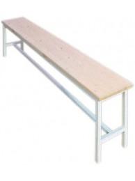 Скамья цельнометаллическая с деревянным сиденьем 2000 СД-М