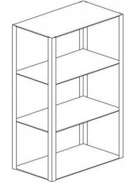 Навесной шкаф-стеллаж 1500 НС-М