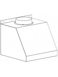 Зонт вытяжной малый 500 ЗВ-Н (нерж.сталь)