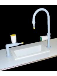 Комплект пристенного химического стола (слив. раковина - керамика)