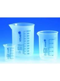 Стакан пластиковый PP, 100 мл, с синей градуировкой (608081) (Vitlab)