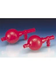 Груша для пипеток с объемом до 100 мл, пластиковая NR, 3 клапана (104199) (Vitlab)