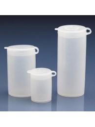 Контейнер для образцов, 10 мл, пластиковый PE-LD, с плотно закрывающейся навесной крышкой PE-LD (80733) (Vitlab)