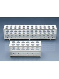 Штатив для 12 пробирок диам. до 21 мм, белая, пластиковая PP (80560) (Vitlab)