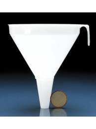 Воронка большая, диам. 350 мм, L=440 мм, диам. на выходе 35 мм, пластиковая PP (41994) (Vitlab)