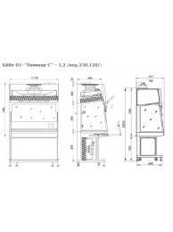 Ламинарный бокс Ламинар-С - 1,2 (код 230.120)  безопасности класс II (тип B2)